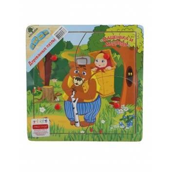 Игрушки, Пазл Сказки-2 Маша и Медведь Затейники 245074, фото