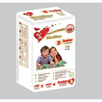 Гигиена, Подгузники Junior от 11 до 25 кг 16 шт MiniMax 264830, фото