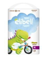 Подгузники Elibell M от 6 до 11 кг 64 шт