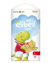 Подгузники Elibell L от 9 до 14 кг 54 шт
