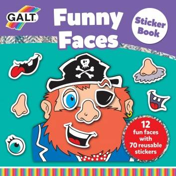 Подарки, Многоразовые стикеры Смешное лицо Galt 269077, фото