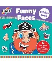Многоразовые стикеры Смешное лицо