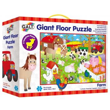 Игрушки, Пазл гигант Ферма Galt 269088, фото