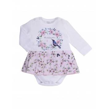Малыши, Боди-платье  Мамуляндия (белый)263560, фото