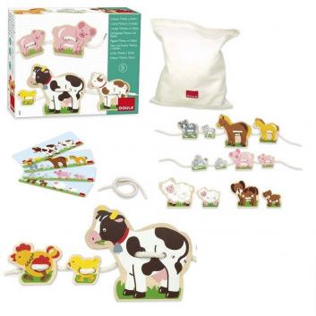 Игрушки, Игровой набор шнуровка Ферма Goula 269092, фото