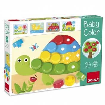 Игрушки, Деревянная мозаика Малыш учит цвета Goula 269111, фото