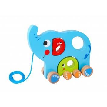 Игрушки, Каталка Слоненок Tooky Toy , фото