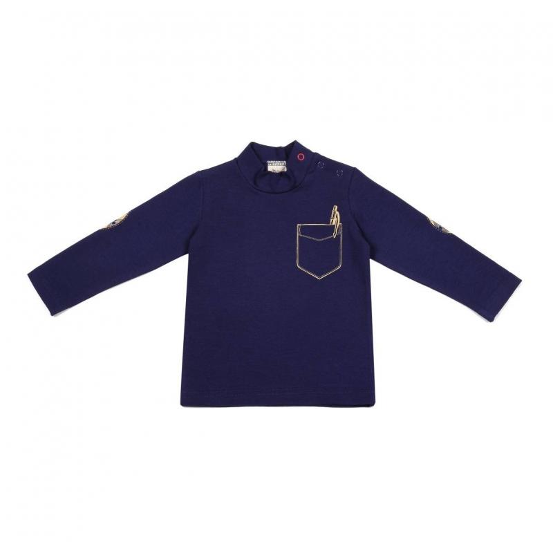 ВодолазкаВодолазка темно-синегоцвета марки Ёмаё для мальчиков. Водолазкас длинным рукавом сшита из хлопкового трикотажа, застегивается на кнопки на плече.Водолазка украшена принтом, имитирующим нагрудный кармашек и декоративные заплатки на локтях.<br><br>Размер: 6 месяцев<br>Цвет: Темносиний<br>Рост: 68<br>Пол: Для мальчика<br>Артикул: 630233<br>Страна производитель: Россия<br>Сезон: Всесезонный<br>Состав: 92% Хлопок, 8% Эластан<br>Бренд: Россия<br>Вид застежки: Кнопки