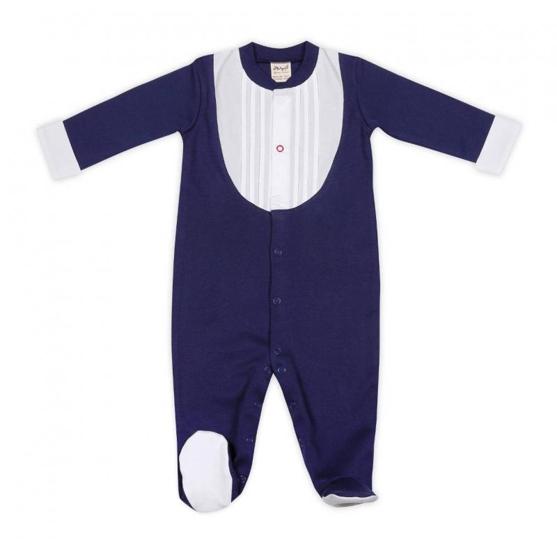 КомбинезонКомбинезон темно-синегоцвета марки Ёмаё для мальчиков.Комбинезон в клеточку сзакрытыминожками и длинными рукавами выполнен из чистого хлопка, застегивается на кнопки спереди по всей длине, а также по шаговому шву. Вставки белого цвета в виде нарядного воротничка и манжетимитируют стильный костюмчик.<br><br>Размер: 3 месяца<br>Цвет: Темносиний<br>Рост: 62<br>Пол: Для мальчика<br>Артикул: 630258<br>Страна производитель: Россия<br>Сезон: Всесезонный<br>Состав: 100% Хлопок<br>Бренд: Россия<br>Вид застежки: Кнопки