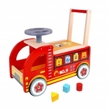 Игрушки, Ходунок-каталка Пожарная машина Tooky Toy 269155, фото