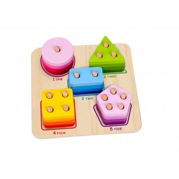 Игрушки, Сортер Геометрические фигуры Tooky Toy , фото