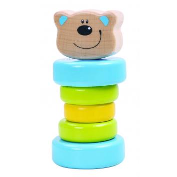 Игрушки, Пирамидка Медвежонок Tooky Toy 269147, фото