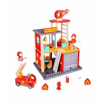Игрушки, Игровой набор Пожарная станция Tooky Toy 269237, фото