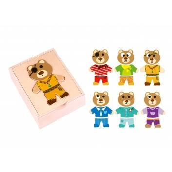 Игрушки, Настольная игра Собери мишку Tooky Toy 269216, фото