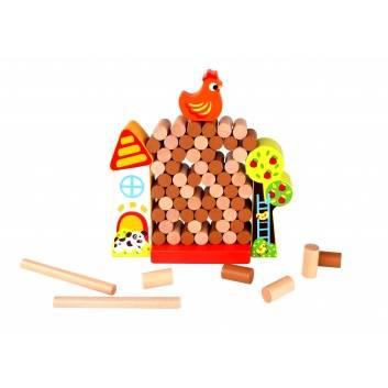 Игрушки, Развивающая игра баланс Курочка Tooky Toy 269182, фото