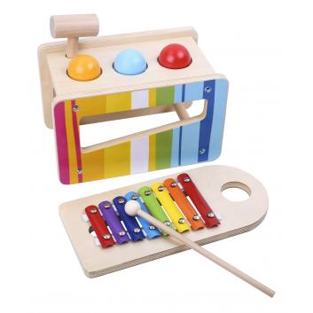 Игрушки, Игровой набор Ксилофон и забивалка Tooky Toy 269179, фото