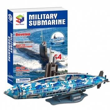 Ликвидация, Пазл Военная Субмарина 3D 54 Детали MAGIC PUZZLE , фото