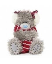 Мишка Тедди с шарфом
