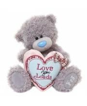 Мишка Тедди 20 см с сердцем