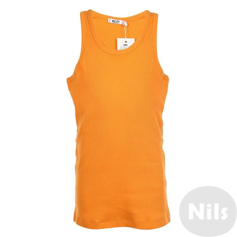 Майка - INCITY - INCITYМайка оранжевого цвета марки INCITYдля девочек.Маечка выполнена из чистого хлопка. Модель: борцовка. На спинке выполнен декоративный шов.<br><br>Размер: 10 лет<br>Цвет: Оранжевый<br>Рост: 140<br>Пол: Для девочки<br>Артикул: 632464<br>Страна производитель: Бангладеш<br>Сезон: Весна/Лето<br>Состав: 100% Хлопок<br>Бренд: Россия
