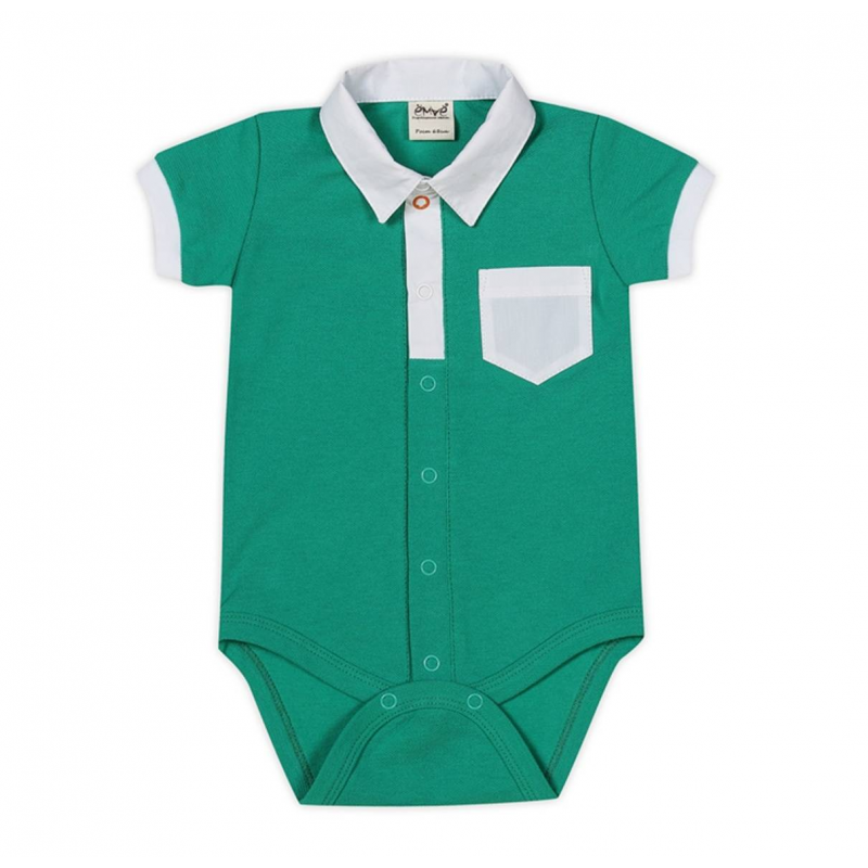 БодиБоди зеленогоцвета на кнопках марки Ёмаё длямальчиков. Выполнено из хлопковой ткани пике,декорировано отложным воротничком, манжетами и карманом на груди белого цвета.Трикотажное боди с короткимрукавом застегивается на кнопки по всей длине и по шаговому швудля удобства переодевания малыша.<br><br>Размер: 6 месяцев<br>Цвет: Зеленый<br>Рост: 68<br>Пол: Для мальчика<br>Артикул: 629996<br>Страна производитель: Россия<br>Сезон: Всесезонный<br>Состав: 100% Хлопок<br>Бренд: Россия<br>Вид застежки: Кнопки