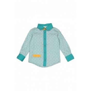 Девочки, Рубашка ЁМАЁ (голубой)185542, фото