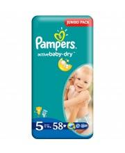 Подгузники Active Baby Dry Junior 11-18 кг 58 шт Pampers