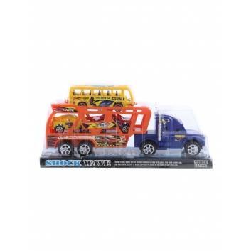 Игрушки, Машина Автовоз с машинами инерционная S+S Toys 228851, фото