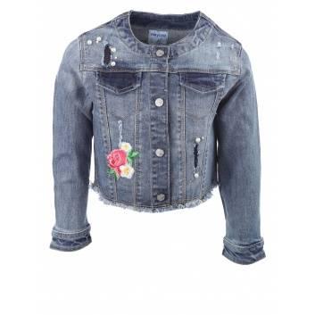 Девочки, Джинсовая куртка MAYORAL (синий)267287, фото