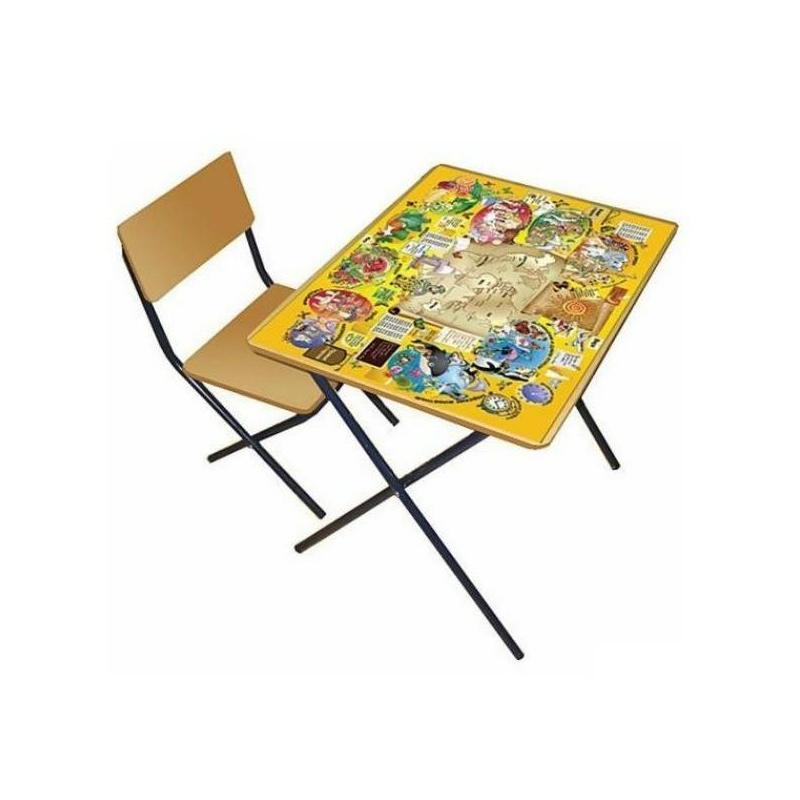 Комплект детской мебели ПДДВ 3-4 года ребенок уже активно начинает рисовать, лепить, учиться счету и алфавиту. Удобнее всего всем этим заниматься за столом. Комплект мебели «ПДД» учитывает анатомические особенности ребенка, поэтому ему будет удобно сидеть и заниматься. На этом столике наклеена большая картинка, по которой можно изучать правила дорожного движения.Мебель сделана из металла и ЛДСП. Металлические детали покрыты устойчивой порошковой краской, что позволяет столу и стулу весь эксплуатационный период сохранять первоначальный внешний вид. Конструкция стола складная, мебель можно легко передвигать. Перед началом эксплуатации убедитесь в надежности и правильности сборки комплекта.Материал: столешница - ЛДСП с наклейкой (правила дорожного движения), ножки - сталь, сидение - фанера.<br>Размеры: стул - 29?37?63 см, стол - 70?48?58 см, высота сидения - 34 см.<br>Максимальная нагрузка на стол: 40 кг.<br>Максимальная нагрузка на стул: 50 кг.<br>Вес комплекта мебели: около 6 кг.<br><br>Возраст от: 5 лет<br>Пол: Не указан<br>Артикул: 628626<br>Страна производитель: Россия<br>Бренд: Россия<br>Размер: от 5 лет<br>Возрастная группа: Дошкольники
