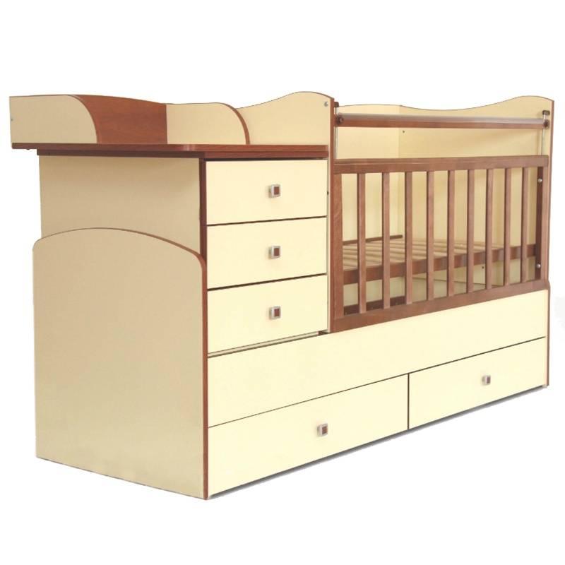 Кровать детскаяДетская кроватка «Фея» (цвет лимонный с коричневым) идеально подходит для комнат малой площади. Она легко трансформируется в несколько предметов мебели: подростковую кровать, тумбу с пеленальным столиком, стол письменный, полку для книг. Вариаций расстановки этих предметов мебели достаточно много. Эта уникальная модель кроватки будет «расти» вместе с малышом.<br>Кровать-трансформер:- тумба с тремя выдвижными ящиками;- пеленальный столик;- 2 уровня высоты ложа;- 2 выдвижных вместительных ящика;<br>Кроватка детская Фея выполнена в нежных лимонных и коричневых тонах, которые позволят ей органично вписаться в интерьер детской комнаты. Многофункциональность и компактные размеры делают ее незаменимой в доме, где появился малыш.<br>Материал:ЛДСП, пластик.<br>Размеры кроватки (д?ш?в): 179,6?66,6?98,4см.<br>Размер детского ложа: 60?120 см.<br>Размер подросткового ложа: 60?170 см.<br>Размер тумбы: 46,3?66 см.<br>Вес:86 кг.<br>Срок службы: 7 лет<br>Обратите внимание, изделие поставляется в разобранном виде - необходима дополнительная сборка (комплектующие входят в комплект).<br><br>Цвет: Коричневый<br>Возраст от: 0 месяцев<br>Пол: Не указан<br>Артикул: 628635<br>Страна производитель: Россия<br>Бренд: Россия<br>Размер: от 0 месяцев