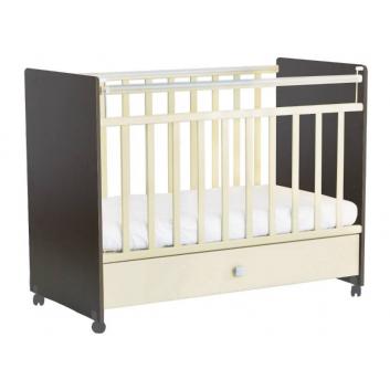 Кроватка детская венге-бежевый