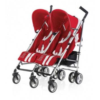 Коляски и автокресла, Коляска прогулочная для двойни B-Flexy Brevi (красный)629406, фото