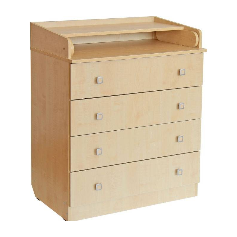 КомодКомод выполнен в элегантном цвете (клен). Цветовое решение делает этот комод подходящим для интерьера детской комнаты. Данная модель оснащена 4 выдвижными ящиками и пеленальной столешницей. Она может раскладываться, создавая большое удобное пространство для пеленания ребенка.Особенности пеленального комода «Фея»:- стильный дизайн;- компактные размеры (80,4х47х91,7 см);- раскладывающаяся пеленальная поверхность;- не имеет колесиков для перемещения.Материал: ЛДСП.<br>Размеры (дхшхв): 80,4х47х91,7 см.<br>Вес: 43 кг.Срок службы изделия: 5 лет.Обратите внимание, изделие поставляется в разобранном виде - необходима дополнительная сборка (комплектующие входят в комплект).<br><br>Цвет: Бежевый<br>Возраст от: 0 месяцев<br>Пол: Не указан<br>Артикул: 629390<br>Страна производитель: Россия<br>Бренд: Россия<br>Размер: от 0 месяцев