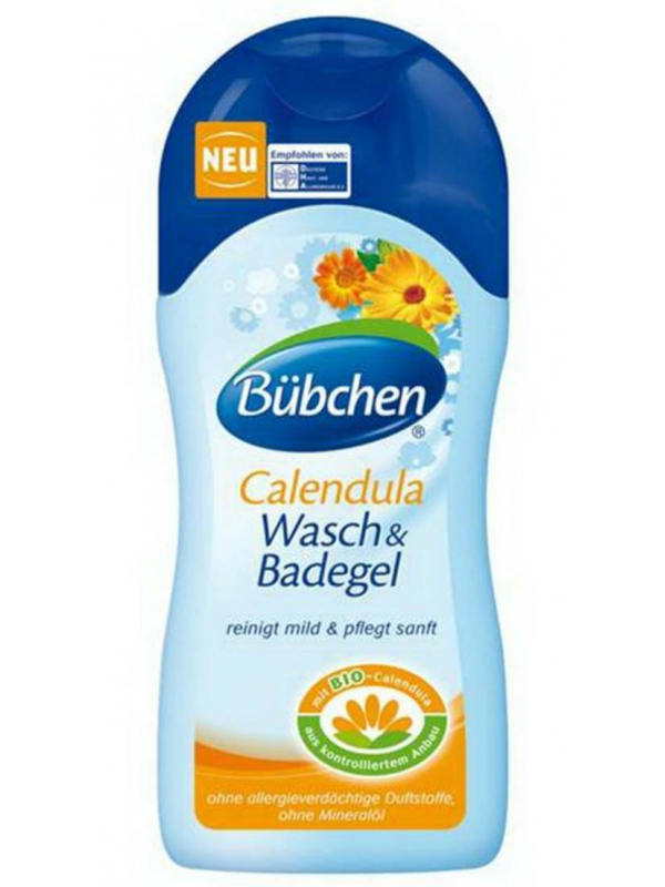 Крем-гель для мытья волос и тела Календула 230 мл Bubchen