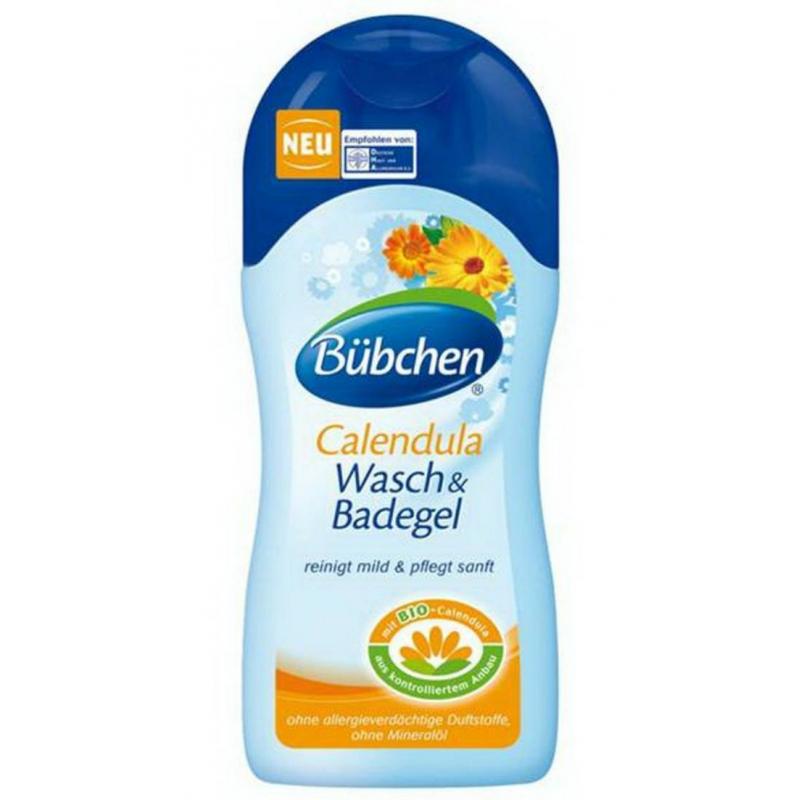 Крем-гель для мытья волос и тела Календула 230 мл (Bubchen)