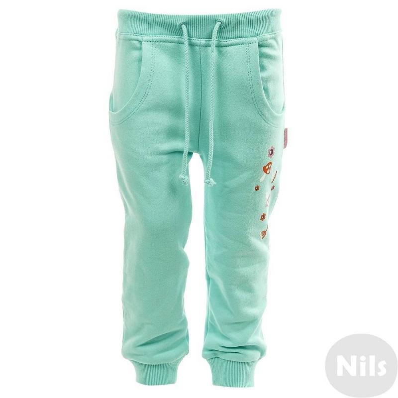 БрюкиСпортивные брюки бирюзового цветамаркиKOGANKIDS для девочек. Штаны выполнены из чистого хлопка, декорированы осенним принтом. Модель с карманами и удобным широким поясом на шнурке.<br><br>Размер: 2 года<br>Цвет: Бирюзовый<br>Рост: 92<br>Пол: Для девочки<br>Артикул: 630942<br>Страна производитель: Узбекистан<br>Сезон: Осень/Зима<br>Состав: 100% Хлопок<br>Бренд: Россия