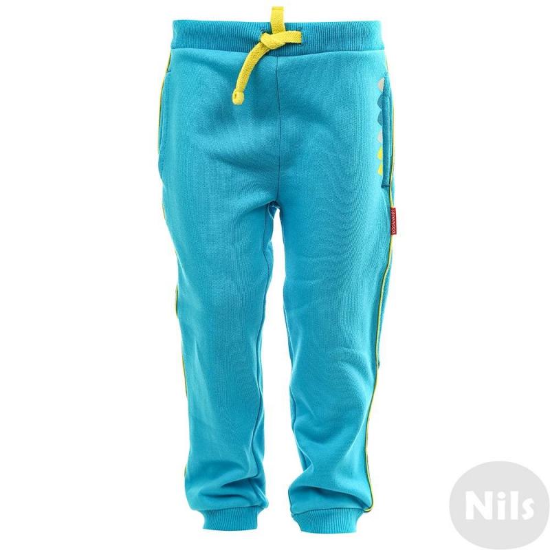 БрюкиСпортивные брюкиголубогоцветамаркиKOGANKIDS длямальчиков.Штаны выполнены из чистого хлопка, декорированы забавнымпринтом, а также контрастными вставками желтого и синего цветов. Модель с карманами и удобным широким поясом на шнурке.<br><br>Размер: 2 года<br>Цвет: Голубой<br>Рост: 92<br>Пол: Для мальчика<br>Артикул: 631059<br>Бренд: Россия<br>Страна производитель: Узбекистан<br>Сезон: Осень/Зима<br>Состав: 100% Хлопок