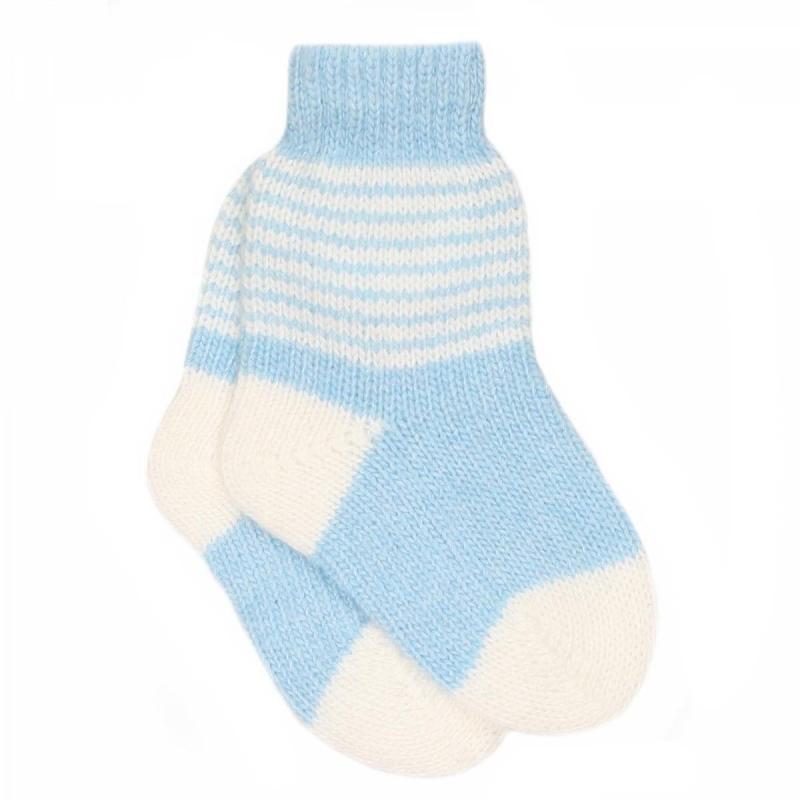 НоскиШерстяные носки голубогоцвета марки JACOTE для малышей, подойдут как для мальчиков, так и для девочек. Теплые носки из мягкого шерстяного трикотажа с добавлением кашемира и вискозы.<br><br>Размер: 2 года<br>Цвет: Голубой<br>Размер: 13<br>Пол: Для мальчика<br>Артикул: 602882<br>Страна производитель: Россия<br>Сезон: Осень/Зима<br>Состав: 5% Кашемир, 40% Шерсть, 30% Вискоза, 25% Полиамид<br>Бренд: Россия