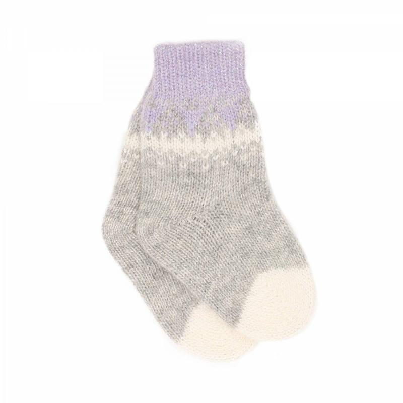 НоскиШерстяные носки серого цвета марки JACOTE для девочек. Теплые носки из мягкого шерстяного трикотажа с добавлением кашемира, ангоры и вискозы, с люрексом и вязаным орнаментом.<br><br>Размер: 12 месяцев<br>Цвет: Сиреневый<br>Размер: 11<br>Пол: Для девочки<br>Артикул: 602887<br>Бренд: Россия<br>Страна производитель: Россия<br>Сезон: Осень/Зима<br>Состав: 10% Кашемир, 40% Шерсть, 28% Вискоза, 7% Ангора, 15% Полиамид