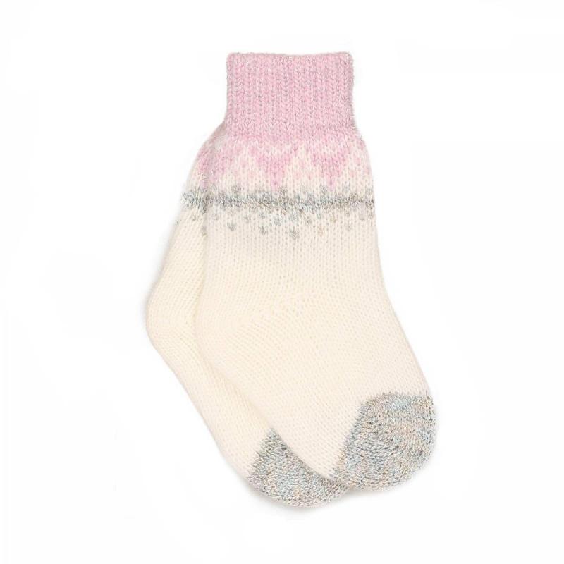 НоскиШерстяные носки белого цвета марки JACOTE для девочек. Теплые носки из мягкого шерстяного трикотажа с добавлением кашемира, ангоры и вискозы, с люрексом и вязаным орнаментом.<br><br>Размер: 2 года<br>Цвет: Розовый<br>Размер: 13<br>Пол: Для девочки<br>Артикул: 602888<br>Страна производитель: Россия<br>Сезон: Осень/Зима<br>Состав: 10% Кашемир, 40% Шерсть, 28% Вискоза, 7% Ангора, 15% Полиамид<br>Бренд: Россия