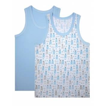 Мальчики, Комплект маек 2 шт UNIK (голубой)289467, фото