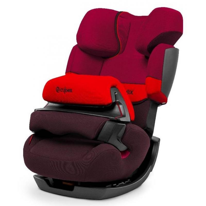 Автокресло Pallas Rumba RedАвтокресло Pallas Rumba Red красного цвета марки Cybex.<br>Новинка 2014 года - автокресло Cybex Pallas обладает рядом возможностей и надежно защищает ребенка во время путешествий в автомобиле. Это кресло сделано из качественных гипоаллергенных материалов, которые просты в уходе. Дизайн этого кресла не только эргономичен, но и выглядит очень современно, поэтому оно будет отлично смотреться в любом автомобиле.<br>Кресло Cybex Pallas прослужит вам не один год, подрастая вместе с вашим ребенком, благодаря тому, что оно создано для безопасности детей в автомобиле от 9 и до 36 кг. То есть, с самого раннего возраста (9 месяцев) и до момента становления ребенка активным пассажиром (12 лет), вам не придется покупать другие автокресла. Отличительной особенностью является особый защитный столик, который обеспечивает дополнительную фиксацию положения тела малыша и защищает его в случае столкновения гораздо лучше, чем обычные встроенные ремни безопасности.<br>Характеристики:- Специальный подголовник, который позволяет расположить голову ребенка слегка откинутой назад для комфортного сна и защищает шею при боковом столкновении. - L.S.P. Система – обеспечивает защиту от боковых ударов при помощи усиленных мягких протекторов, которые рассеивает силу удара.- Регулируемый наклон спинки автокресла, который позволит занят ребенку наиболее удобное положение при длительных путешествиях.- Мягкий вкладыш, который используется для перевозки малышей и делает кресло намного мягче и удобней. (Может быть снят, когда ребенок подрастет).- Устанавливается лицом по ходу движения;- Крепится в автомобиле при помощи штатных ремней безопасности.<br>Размер: 45,5х48х72-89 см<br>Вес: 9,5 кг.<br><br>Цвет: Красный<br>Возраст от: 9 месяцев<br>Пол: Не указан<br>Артикул: 628206<br>Бренд: Германия<br>Страна производитель: Китай<br>Вес: 9,5 кг.<br>Размер: от 9 месяцев<br>Способ установки: По ходу движения<br>Способ крепления: Ремень безопасности<br>Регулировка наклона спинки: Да