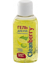 Гель для рук антибактериальный Лимон и лайм 60 мл