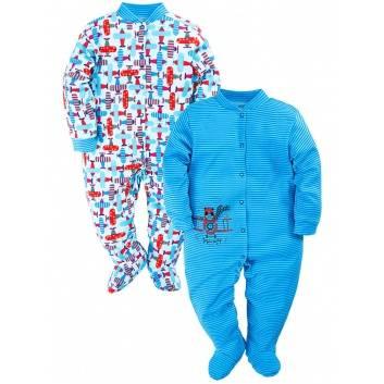 Малыши, Комбинезон 2 шт Веселый малыш (голубой)290400, фото