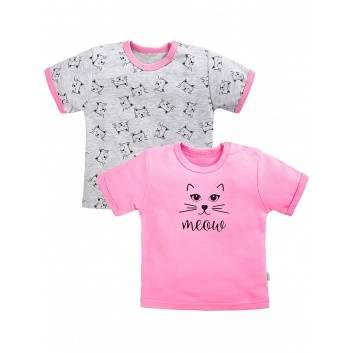 Девочки, Комплект футболок 2 шт Веселый малыш (розовый)290447, фото