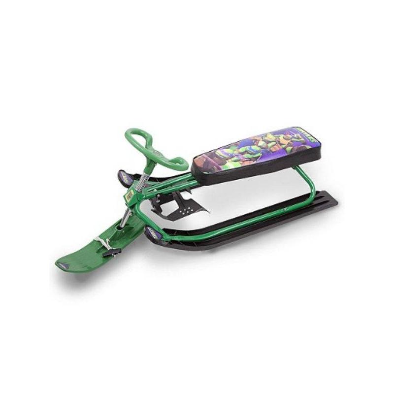 СнегокатСнегокат зеленого цветамарки Playmates Toys.Модель Sport оснащена рулем с поворотной лыжей и тормозом.Двухместный снегокат обязательно оценят маленькие поклонники Черепашек Ниндзя, ведь на нем изображены их любимые герои.<br><br>Цвет: Зеленый<br>Возраст от: 3 года<br>Пол: Не указан<br>Артикул: 632965<br>Страна производитель: Китай<br>Сезон: Осень/Зима<br>Бренд: Россия<br>Лицензия: Черепашки Ниндзя<br>Размер: от 3 лет