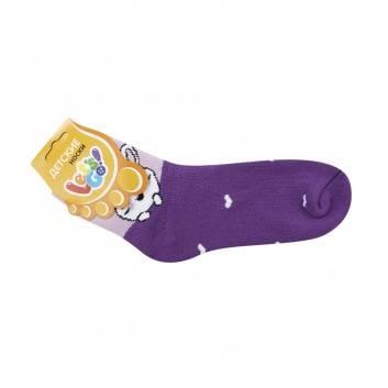 Девочки, Детские носки махровые Let's Go! (фиолетовый)192555, фото
