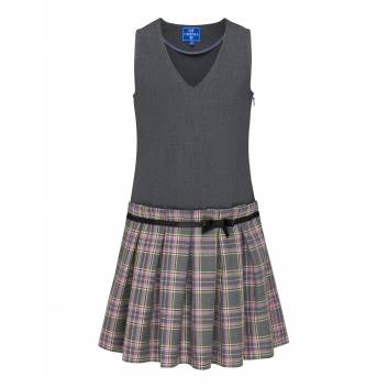 Школа, Сарафан Смена (серый)298679, фото