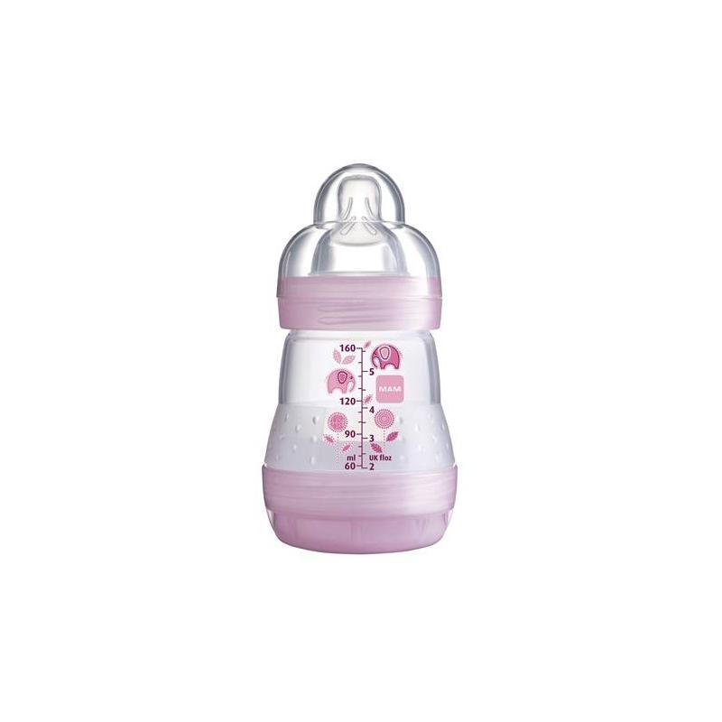 Бутылочка для кормления Anti-Colic 160 млБутылочка для кормления Anti-Colic Quarz Rosy Ecoрозовогоцвета австрийской марки МАМ, 160мл<br>Anti-Colic - идеальные бутылки для малышей с первого дня кормления. Нижний клапан бутылочки гарантирует, что младенцы могут спокойно и расслабленно пить содержимое. Питание с помощью этих видов бутылочек уменьшает риск возникновения кишечных колик на 80%, таккак сокращается количество воздуха, который заглатывает ребенок при кормлении.<br>Бутылочка имеет новое свойство - самостерилизацию, -конструкция бутылочки позволяет эффективно и безопасно стерилизовать ее с помощью микроволновой печи.<br><br>Цвет: Розовый<br>Возраст от: 0 месяцев<br>Пол: Для девочки<br>Артикул: 633965<br>Страна производитель: Венгрия<br>Бренд: Австрия<br>Размер: от 0 месяцев